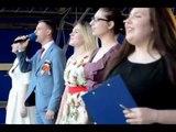 Россошанцы исполнили песню Победы и соорудили 5-конечную звезду, Блокнот Россоши, 07.05.2018