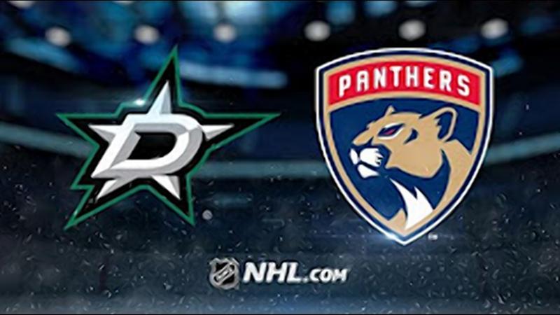 НХЛ - регулярный чемпионат. Флорида Пантерз - Даллас Старз - 4:3 Б (2:1, 0:2, 1:0, 0:0, 1:0)