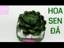Hướng dẫn cách tự làm Hoa Sen Đá bằng giấy nhún đơn giản ❀ DiyBigBoom VN