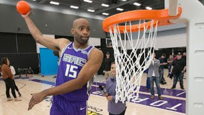 Billups Wants To See Vince Carter In 2018 Dunk Contest   40 Yrs Old VC Warm-up Dunks Compilation!