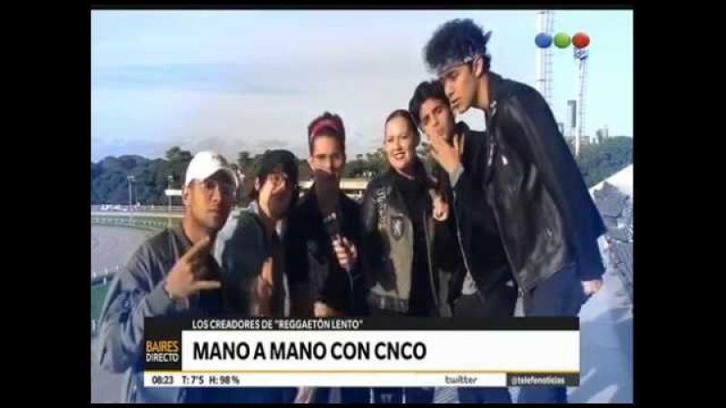 CNCO entrevista en Argentina. ¿Qué les parecen las fans argentinas? ¿Qué tiene Reggaetón Lento?