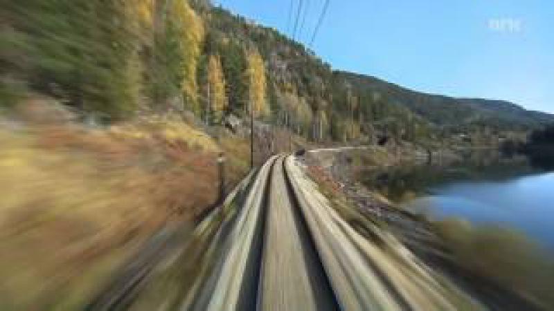 Поезд Svenkerud Oslo Норвегия Прекрасное видео и музыка