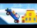 Новогодний мультик про машинки. Дед мороз развозит подарки
