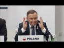 Wystąpienie prezydenta Andrzeja Dudy na pierwszej sesji spotkania Grupy Arraiolos