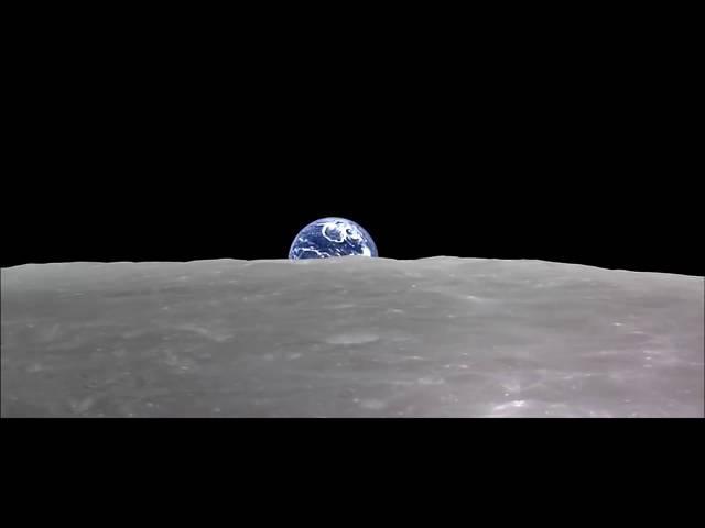 Восход Земли на Луне с аппарата SELENE. эпоха космической одиссеи стала реальностью