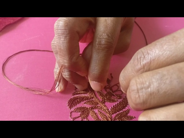 Designer Choli in the Making - Hand Embroidery
