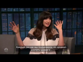 """Caitriona Balfe - """"Outlander"""" Hilarious interview with Seth Meyer (outtake )RUS SUB"""