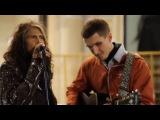 Аэросмит. Стивен Тайлер и уличный музыкант. Москва