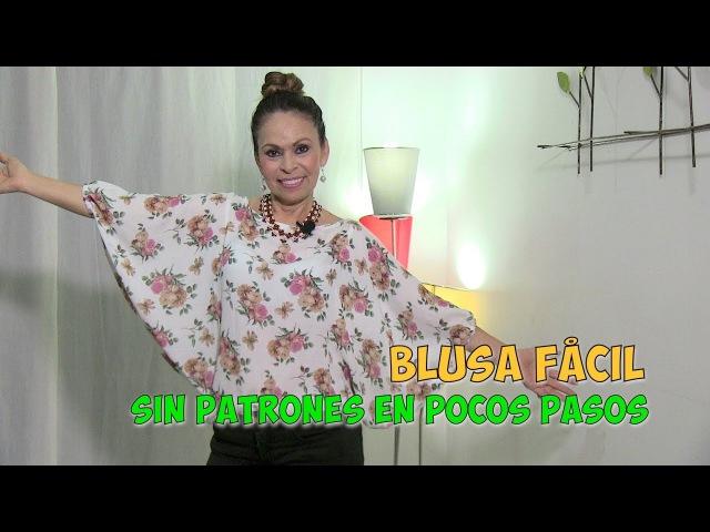 DIY Blusa Fácil sin Patrones en Pocos Pasos Easy Blouse without Patterns in Few Steps