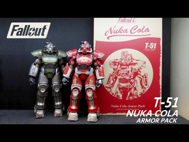 Fallout Nuka World T-51 Nuka Cola power armor pack figure by Threezero Unboxing Review