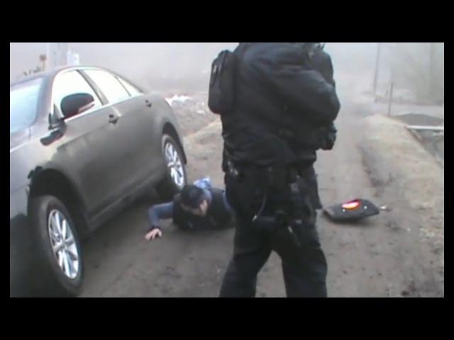 14-10-2017.Задержание вооружённой банды из Чечни Работает СОБР оперативная съёмка
