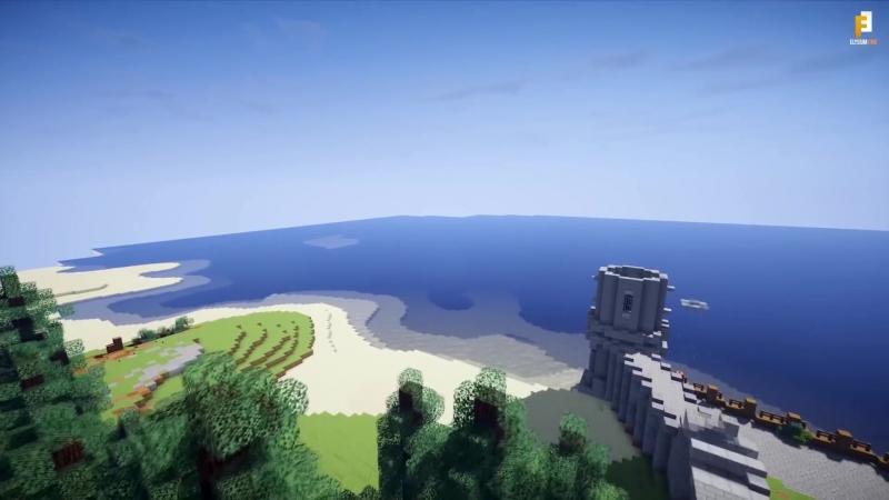 Новиград из The Witcher 3 Wild Hunt воссоздали в Minecraft