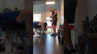 Отрывки из кардио и силовой тренировки