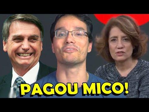 MIRIAM LEITÃO PAGOU MICO NA ENTREVISTA DO BOLSONARO