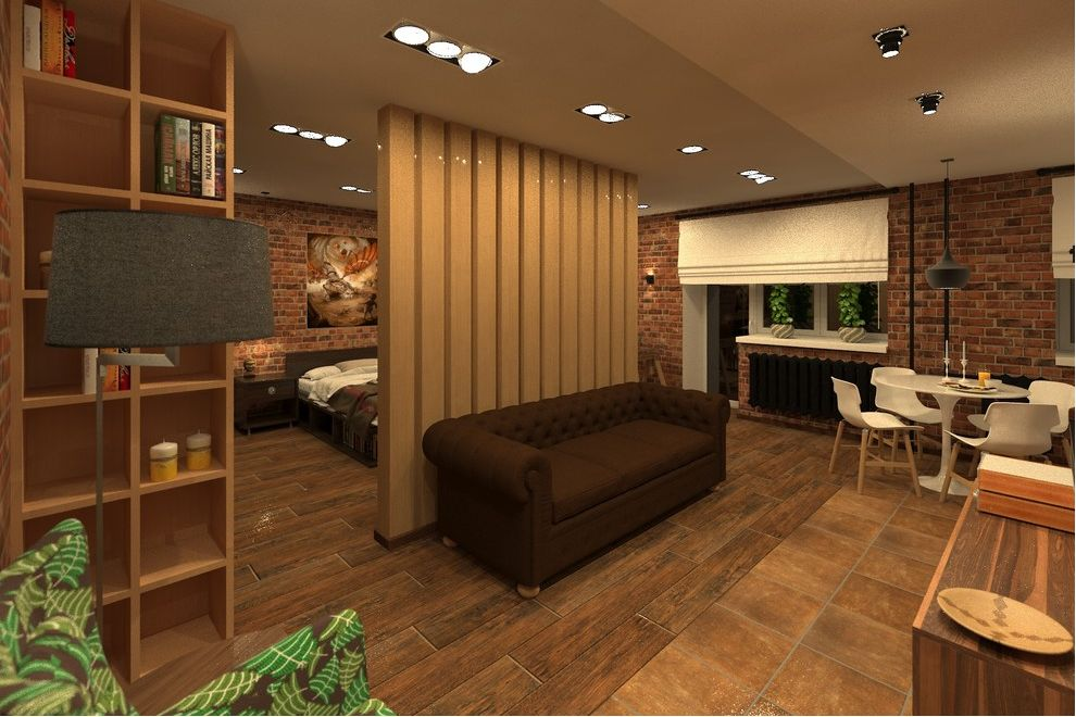 Проект квартиры 44 м под лофт.