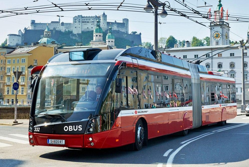 Троллейбус из аэропорта Зальцбурга до города