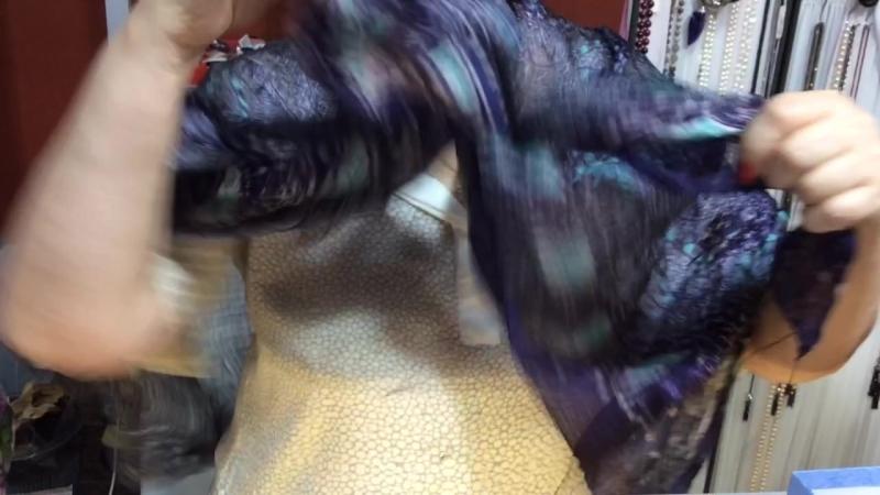 Часть2. Варианты завязывания платков и шалей