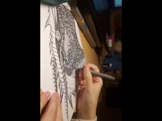 рисую дракона