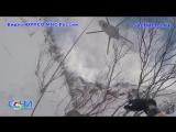 Cпасения двух сноубордистов из кулуара Суицид с помощью вертолета на Роза Хутор
