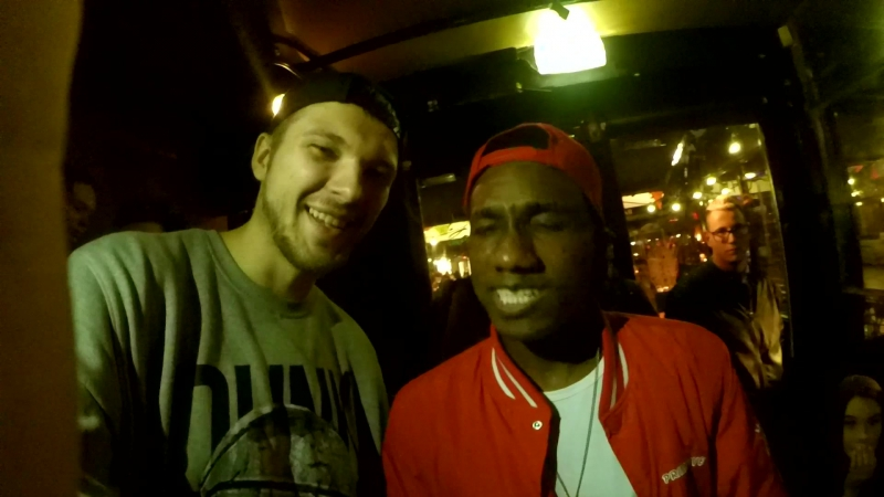 Hopsin gives a shout-out to his VK community