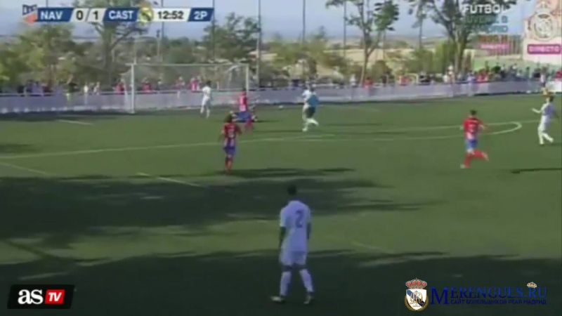 Merengues.ru | Luca Zidane gaffe costs Castilla a penalty and the keeper a red card