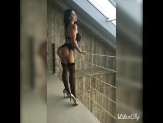 Видео - Aletta Ocean в эротичном белье, шикарная попка, brazzers