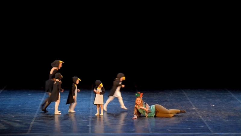Веселые пингвины детский танец - танцевальная школа Диваданс (1) » Freewka.com - Смотреть онлайн в хорощем качестве