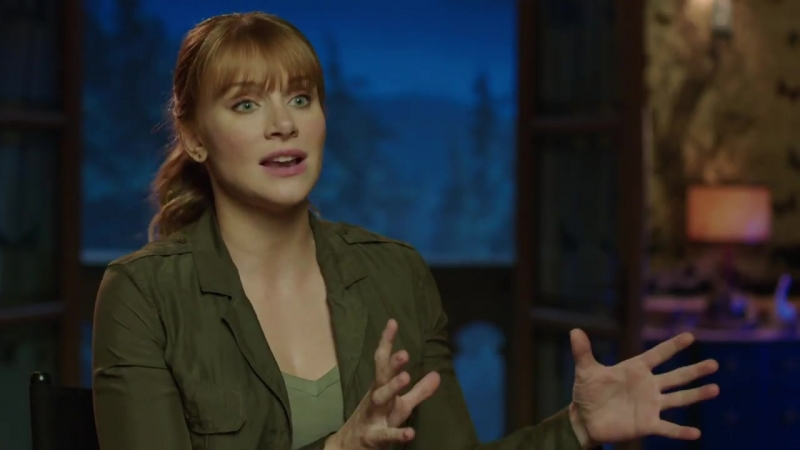 JURASSIC WORLD FALLEN KINGDOM Claire Behind The Scenes Bryce Dallas Howard Interview