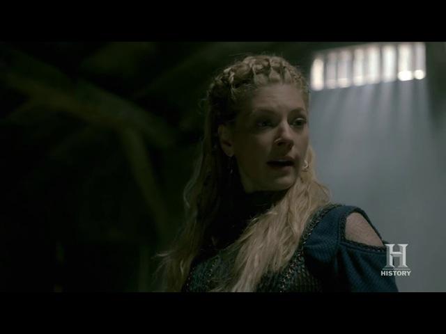 Vikings S05S02 - Lagertha rapes/sex king Harald