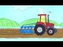 КИСА 2 серия Трактор. Мультфильмы для детей. Развивающие мультики про машинки
