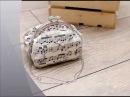 Текстильная сумка Ноктюрн . Сумка с фермуаром ручной работы