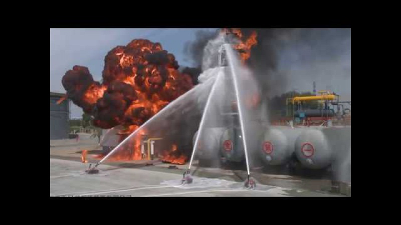 Explosion Proof Fire Fighting Robot Field Test September 2016