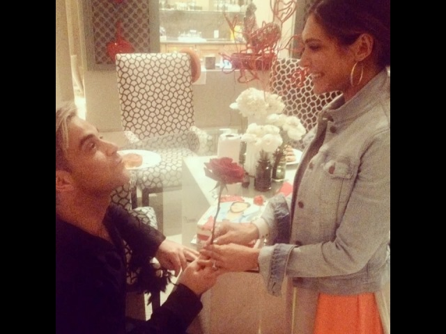 """Ayda Field Williams on Instagram: """"fb Valentine's Day 2014. @robbiewilliams. Thank you for giving me the final rose:) I love you with all my heart..."""