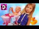 Кукла Беби Бон ВРЕМЯ КУПАНИЯ Ванночка для Куклы Baby Born Doll Bath Time Kids Videos
