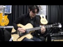 Mike Moreno @ NAMM Show 2016 Marchione 16 Archtop Guitar