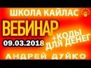 ☀ Вебинар Андрея Дуйко 09032018 Коды ответы на вопросы рекомендации ☀ Школа Кайлас Эзотерика бесп
