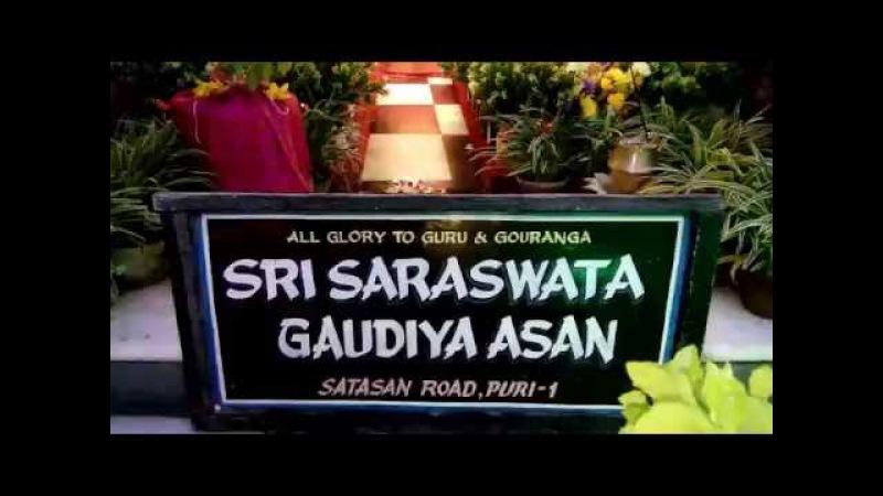 Jhulan purnima 2016 Sri Saraswata Gaudiya Asan, Puri
