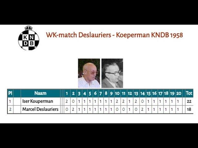 WK-match Deslauriers - Koeperman KNDB 1958