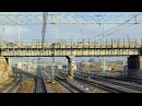 Прибытие в Санкт-Петербург на ЭП2К Вид из кабины