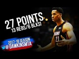 Hassan Whiteside Full Highlights 2018.01.17 at Bucks - 27 Pts, 13 Rebs, 6 Blks, BEAST Mode!