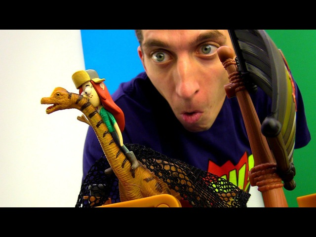 Диппер и Венди ловят Динозавра Игрушки Гравити Фолз