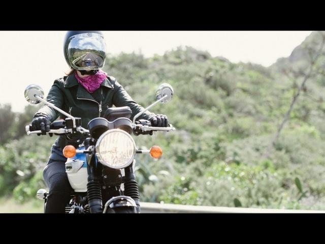 Be Free Just Ride Solo Female Ride on Triumph Bonneville T100