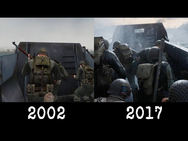 Medal of Honor 2002 vs Call of Duty 2017 Omaha Beach Comparison