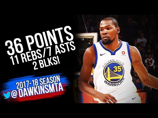 Kevin Durant Full Highlights 2017.12.14 vs Mavs - 36 Pts, 11 Rebs, 6 Assists, 2 Blks!
