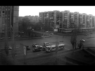 Небольшое ДТП на перекрестке ул. Масленникова, ул. Куйбышева (22.10.2017)