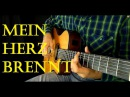 (Rammstein) - Mein Herz Brennt - Fingerstyle guitar cover TABS