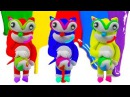 Learn Colors With Play Doh Modelling Clay Super Sonic and TooHee Molds Surprise Toys for Kids