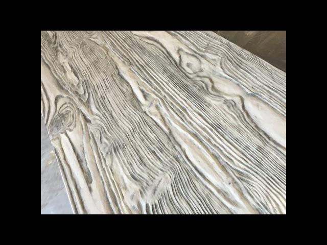 Браширование мебельных щитов. Aging wood.