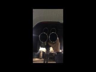 выхлоп на Polo Sedan GT stock exhaust vs Fortluft exhaust 1.4tsi dsg