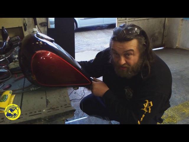 Способ очистки ржавого мотоциклетного бака